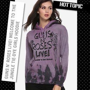 Hot Topic Guns N' Roses Live Purple Hoodie NWT Med